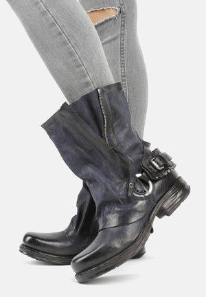 Cowboy/biker ankle boot - blau