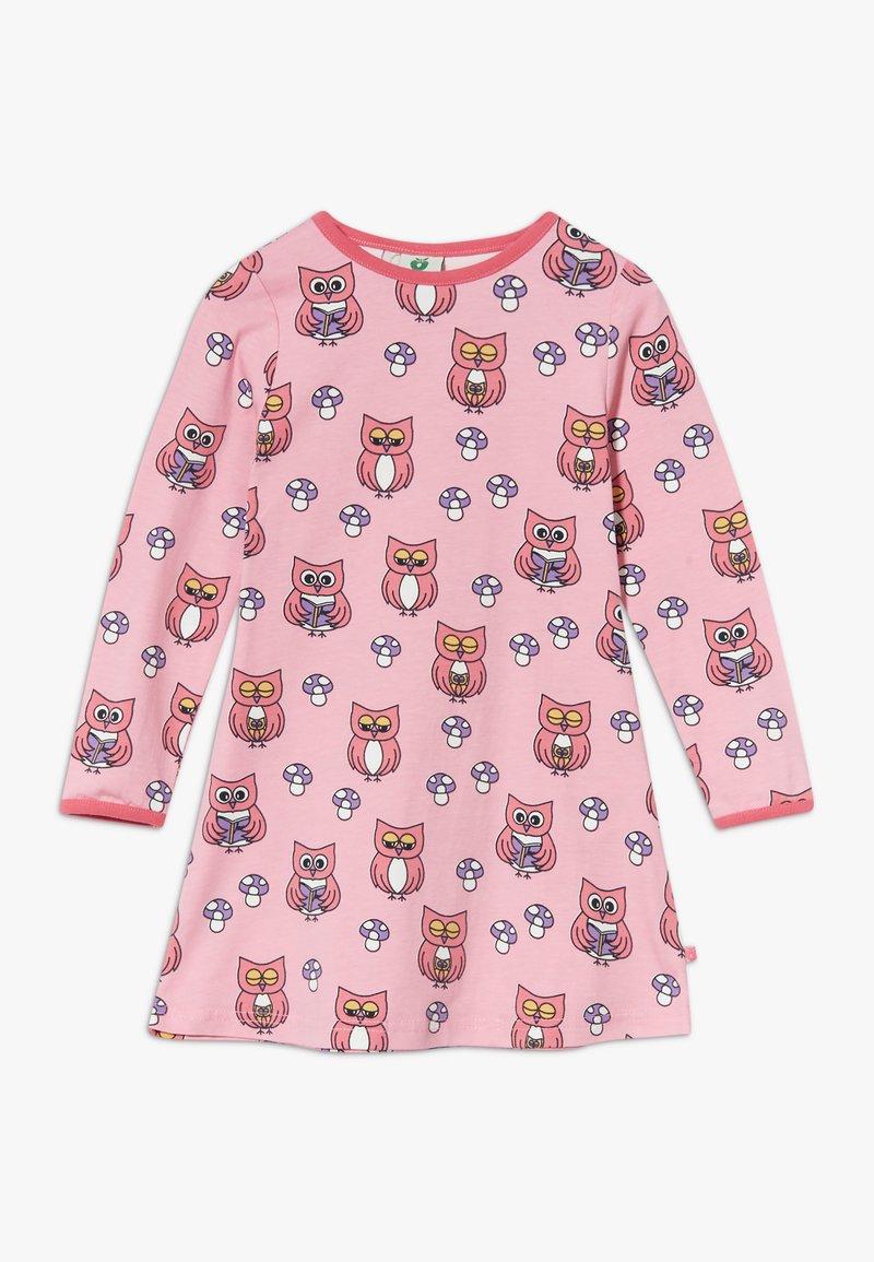 Småfolk - DRESS OWL - Jersey dress - sea pink