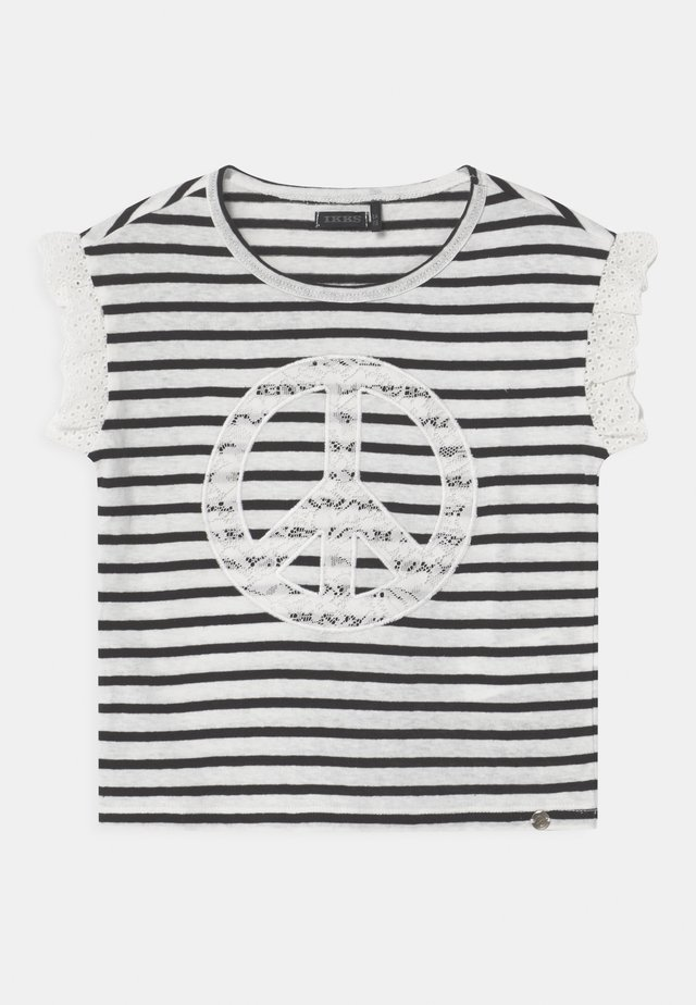 MARINIERE - Print T-shirt - blanc cassé