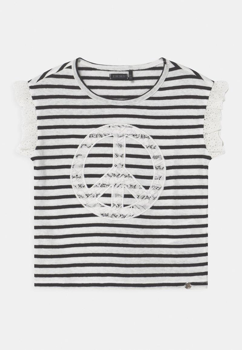 IKKS - MARINIERE - Print T-shirt - blanc cassé