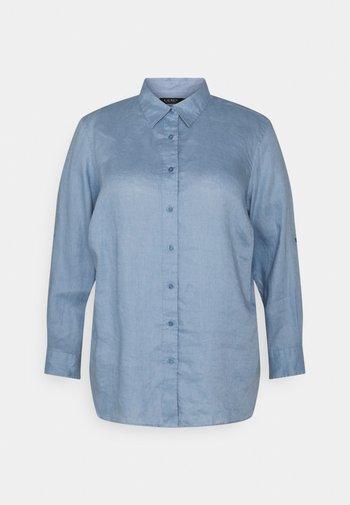 KARRIE LONG SLEEVE - Button-down blouse - dust blue