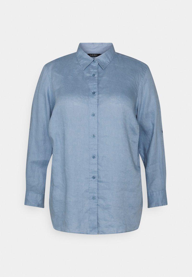 Lauren Ralph Lauren Woman - KARRIE LONG SLEEVE - Button-down blouse - dust blue