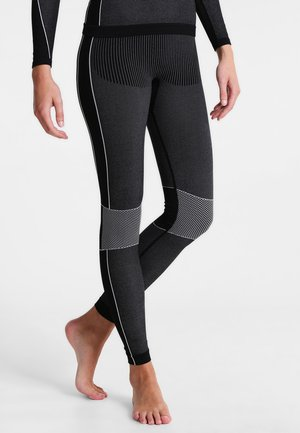 WOMAN SEAMLESS LONG  - Base layer - schwarz