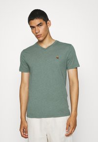 Abercrombie & Fitch - ICON 3 PACK - Basic T-shirt - burgundy/blue/green - 3