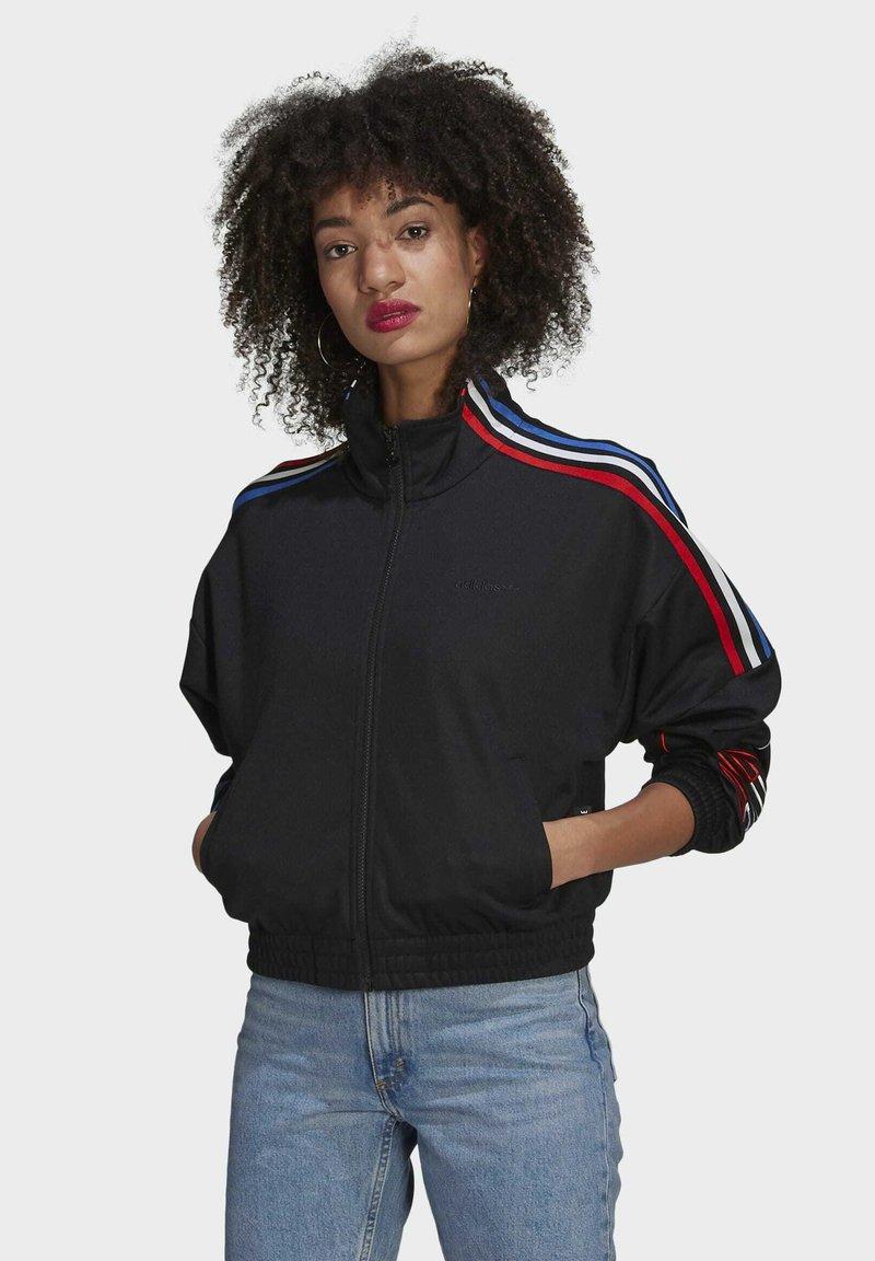 adidas Originals - ADICOLOR TRICOLOR TREFOIL PRIMEBLUE TRACK TOP - Training jacket - black