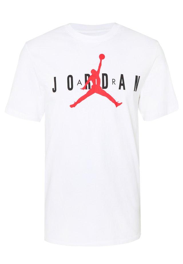 Jordan Air Wordmark Herren-T-Shirt - T-shirt imprimé - white/black/infrared 23