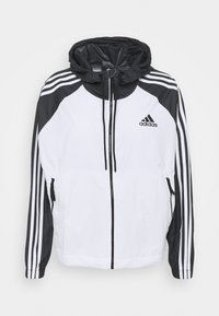 adidas Performance - STRIPES WINDBREAKER - Outdoor jacket - white/black - 5