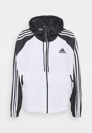 STRIPES WINDBREAKER - Outdoorová bunda - white/black