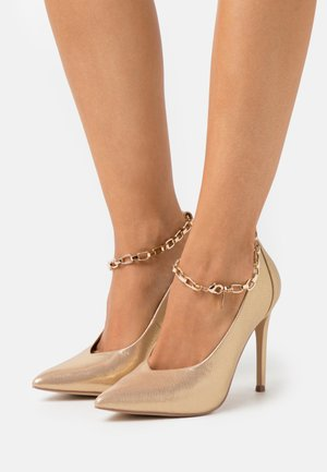 PAISELY - Zapatos altos - gold