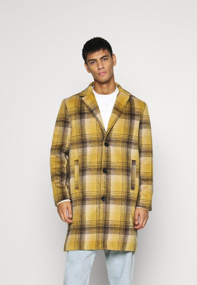 MIX BOLD YELLOW CHECK  - Classic coat - yellow
