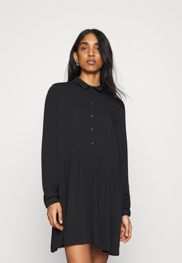 VIDANIA - Shirt dress - black
