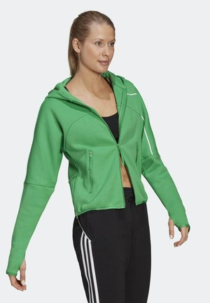 W Z.N.E. Hd SPORTSWEAR PRIMEGREEN SPORTS LOOSE TRACK TOP HOODIE - Zip-up hoodie - green
