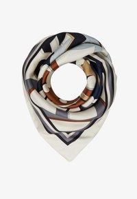 Tory Burch - MEDLEY LOGO SQUARE - Foulard - light pale stone - 1