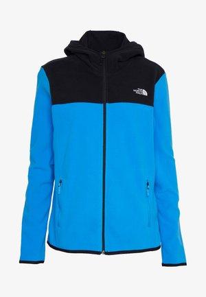 WOMENS GLACIER FULL ZIP HOODIE - Fleecová bunda - clear lake blue/black