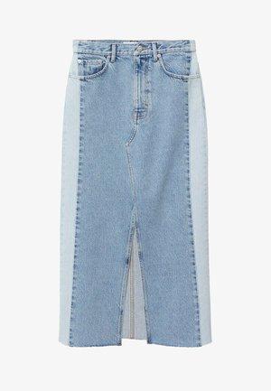 CINDY - A-line skirt - azul medio