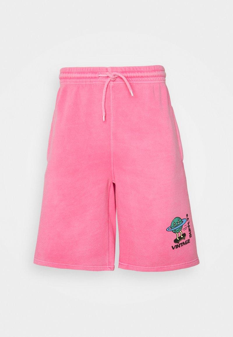 Vintage Supply - OVERDYE BRANDED - Shorts - pink