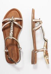 Anna Field - T-bar sandals - gold - 3