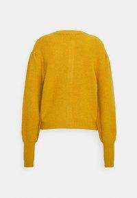 Who What Wear - MOCK NECK CARDIGAN - Kardigan - mustard - 1