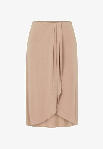 A-line skirt - warm taupe