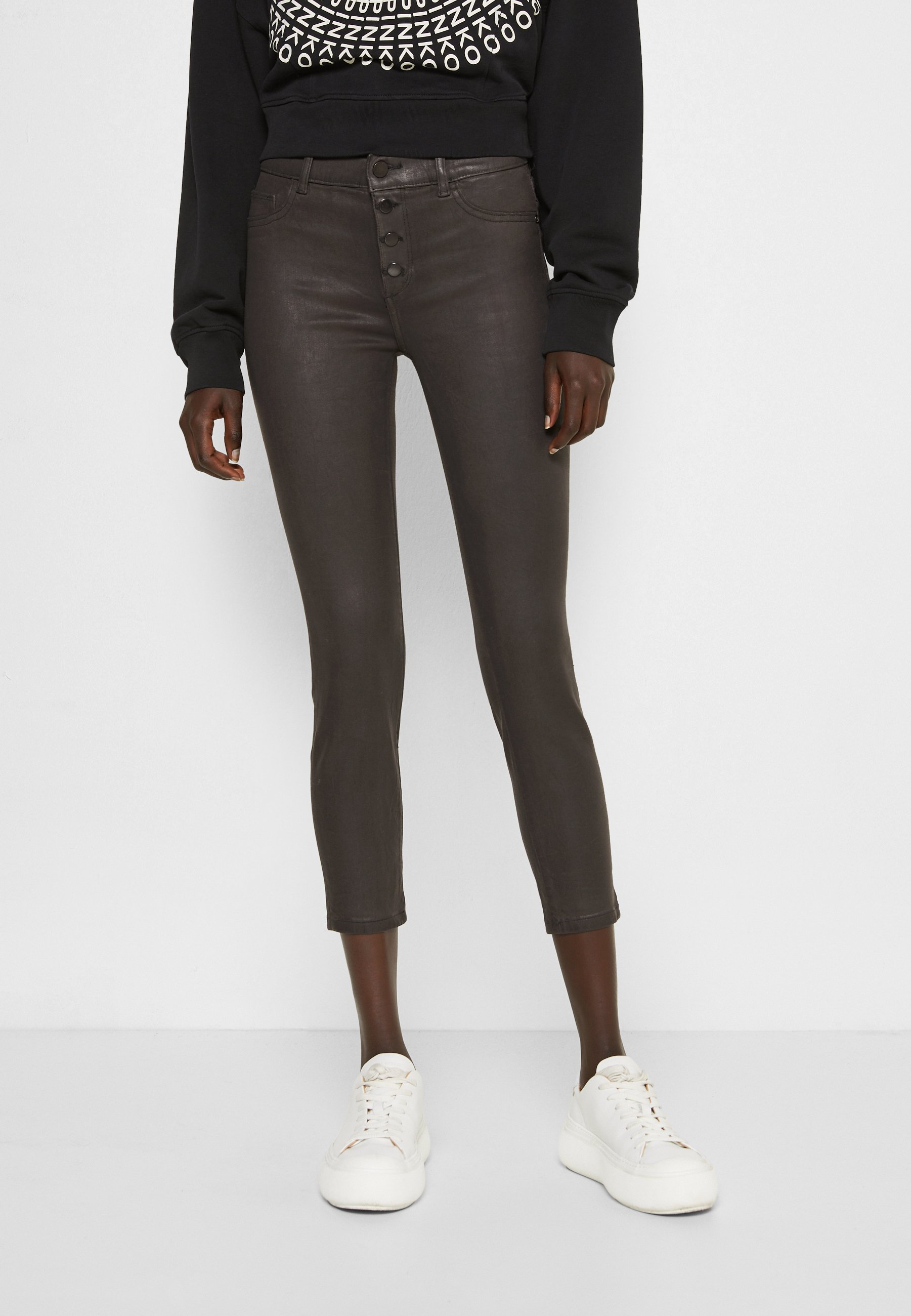 Women FLORENCE MID RISE INSTASCULPT CROP - Jeans Skinny Fit - pewter