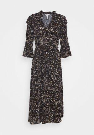 OBJANNA LINA MIDI DRESS - Maxi dress - black/sandshell