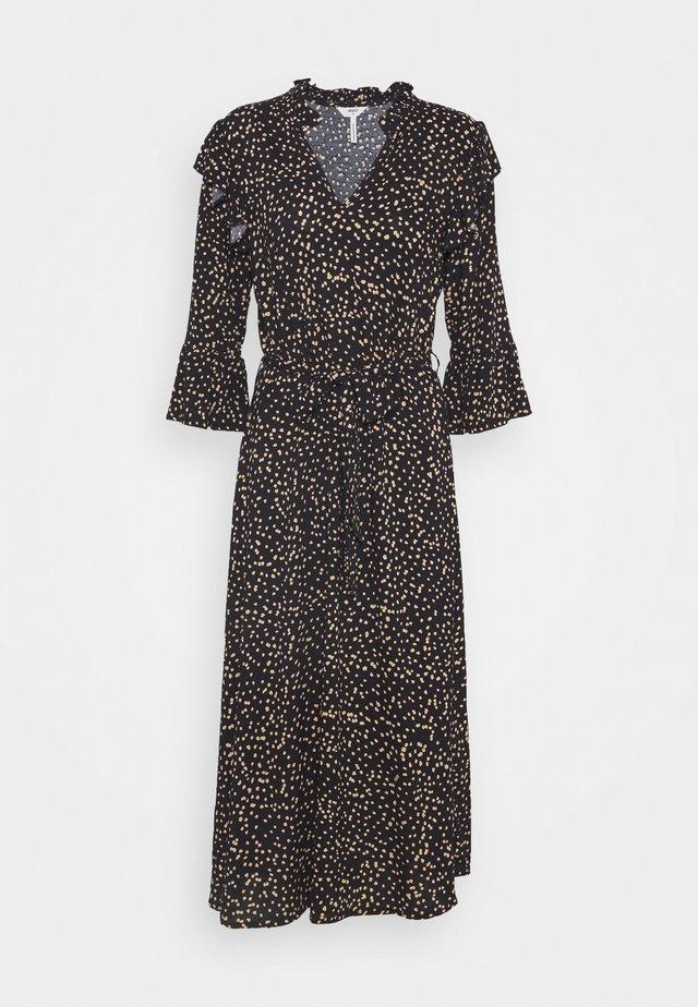 OBJANNA LINA MIDI DRESS - Robe longue - black/sandshell