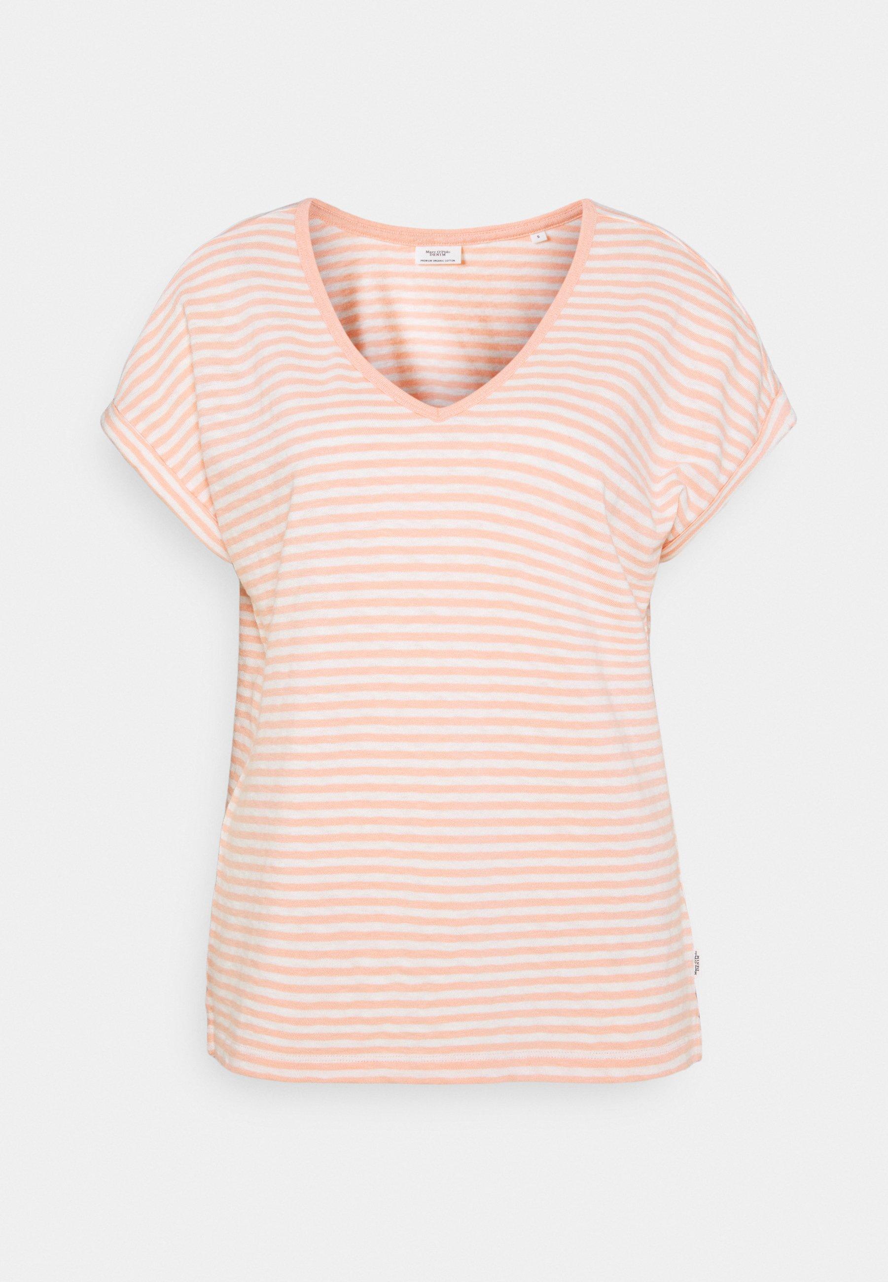 Damen SHORT SLEEVE WIDE BODYSHAPE VNECK - T-Shirt print