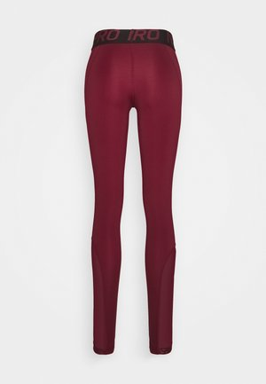 Tights - dark beetroot/desert berry