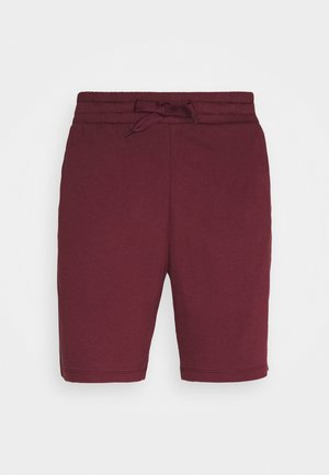 LOUNGE SHORTS - Pyjama bottoms - bordeaux/dark blue