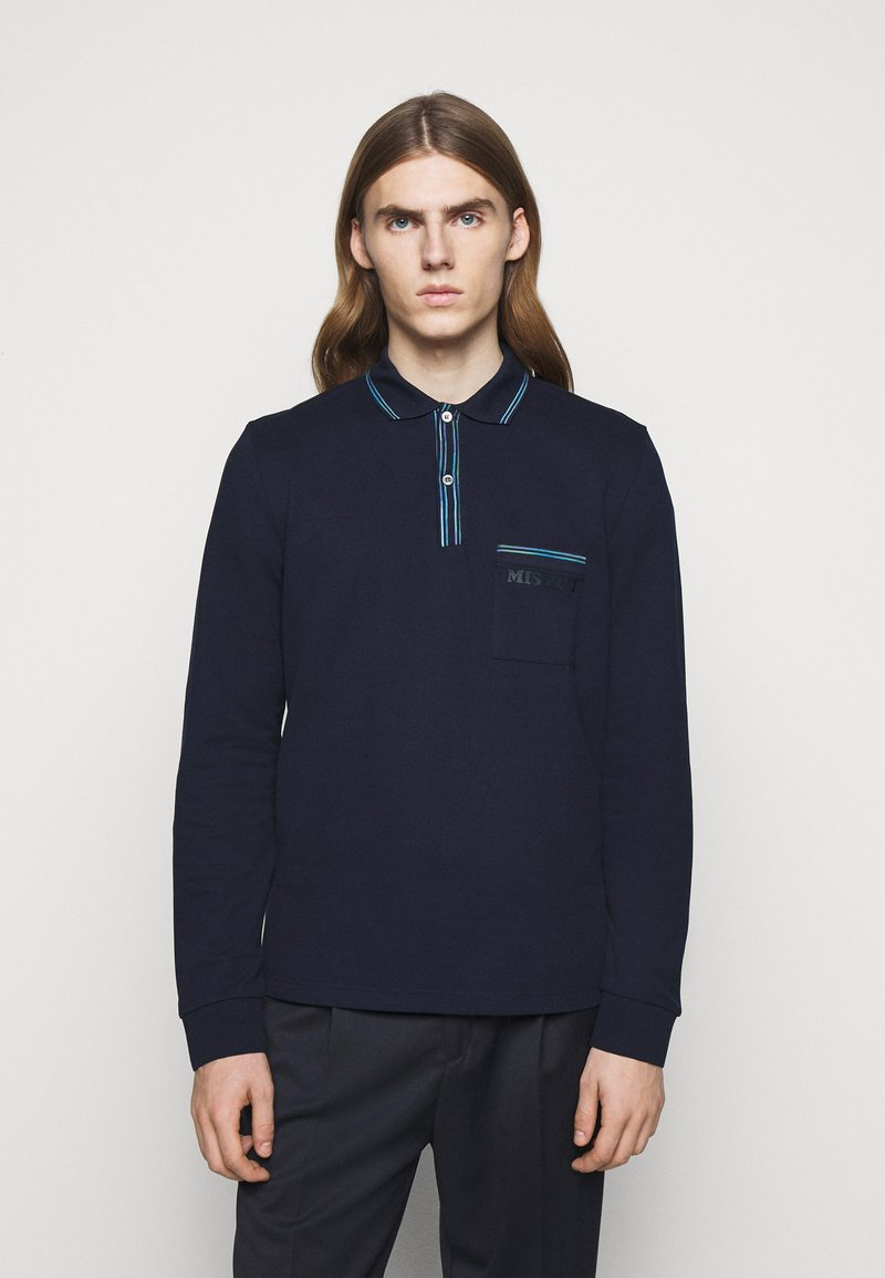 Missoni - LONG SLEEVE - Polo - blue navy