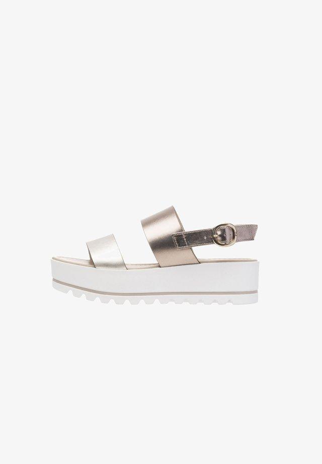 Platform sandals - platino