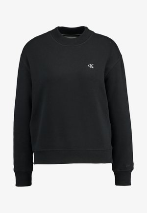 EMBROIDERY REGULAR CREW NECK - Sweatshirt - black