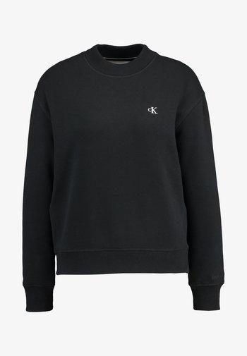 EMBROIDERY REGULAR CREW NECK - Sweatshirt - black