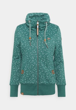 RYLIE ZIP BRACKEN - Zip-up hoodie - dark green