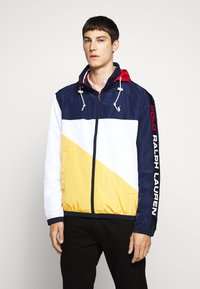 Polo Ralph Lauren - PACE FULL ZIP JACKET - Summer jacket - newport navy/yellow - 0