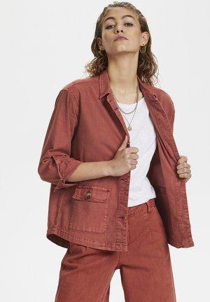 DHALTO  - Denim jacket - redwood