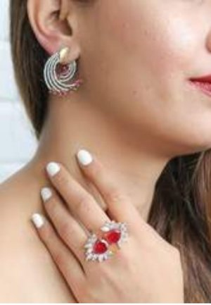 SHOOTING - Earrings - red