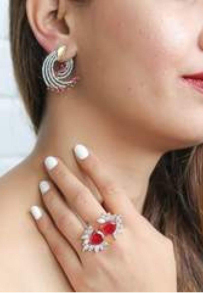 Bombay Sunset - SHOOTING - Earrings - red