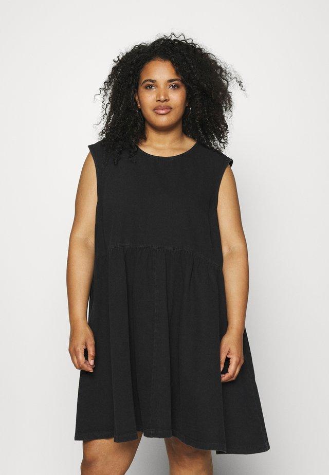 NMCAROLINA DRESS  - Denimové šaty - black
