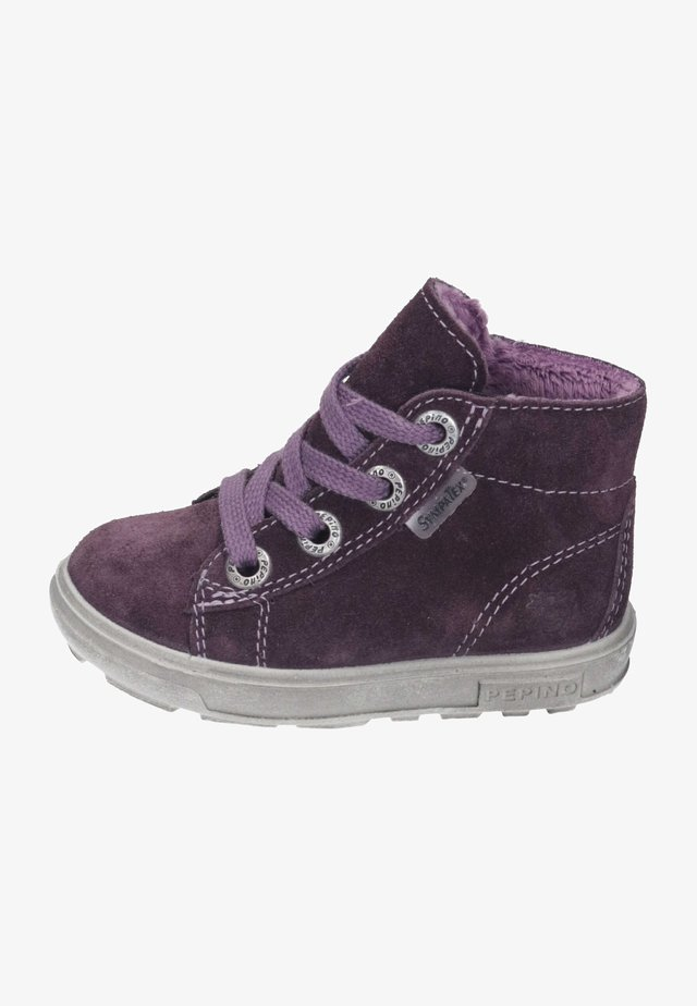 Lace-up ankle boots - plum