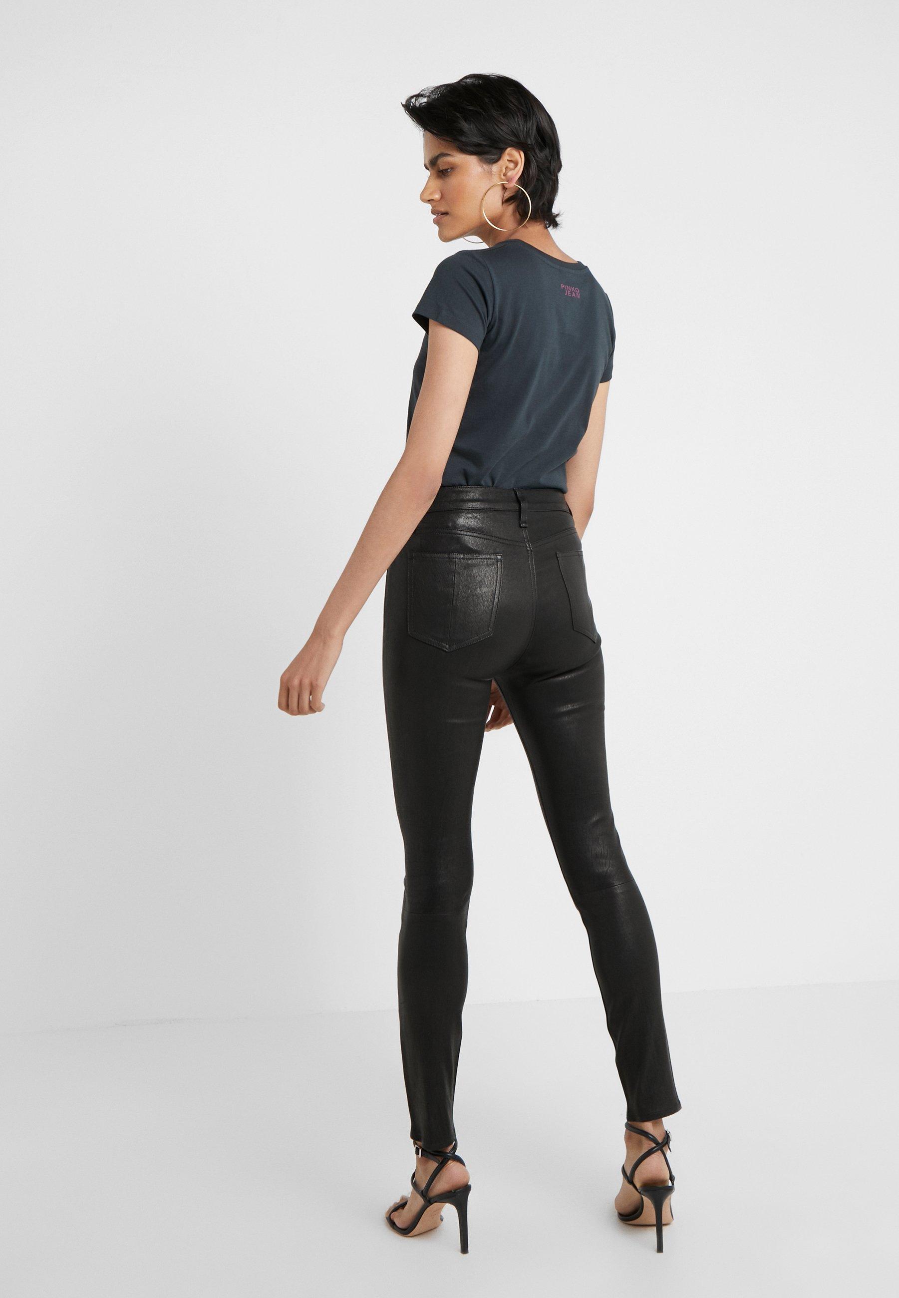HIGH RISE PANT Skinnbukser black