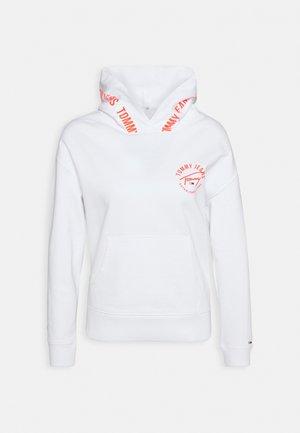 TAPE HOODIE - Sweatshirt - white
