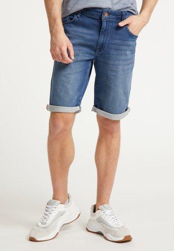 SHORTS - Denim shorts - dark blue