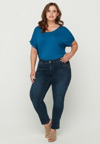 Zizzi - Basic T-shirt - blue - 0