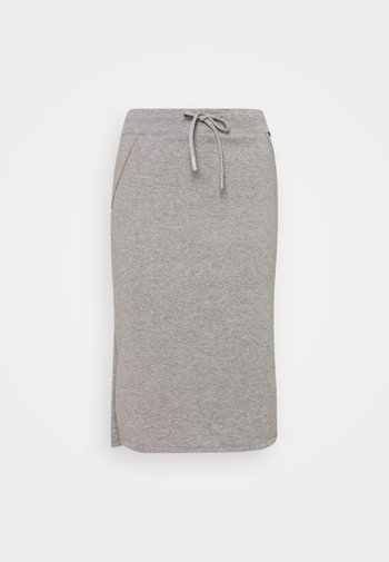 ARC SKIRT WOMAN - Pencil skirt - grey melange