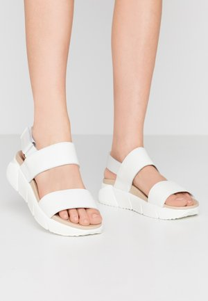 SPORTY  - Platform sandals - offwhite