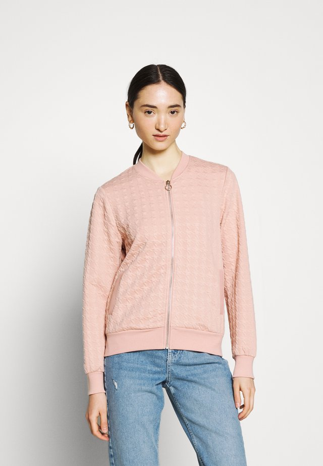 ONLMYNTHE JOYCE - Zip-up hoodie - misty rose