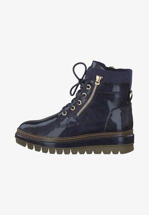 Platform ankle boots - pacific patent
