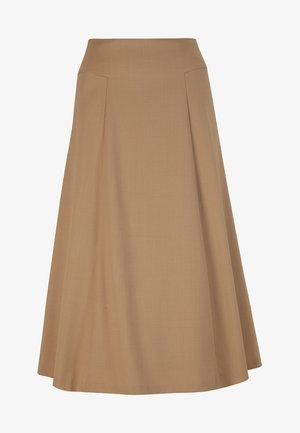 AUSGESTELLTER  - A-line skirt - dark toffee