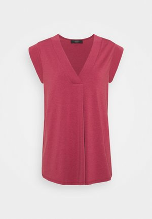 MULTIC - Basic T-shirt - dunkelmauve